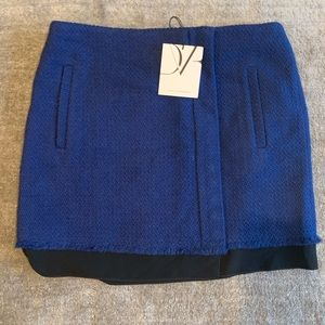 NWT Diane Von Furstenberg Kiki Boucle Tweed Skirt